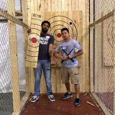 Cincinnati Axe Throwing Pair