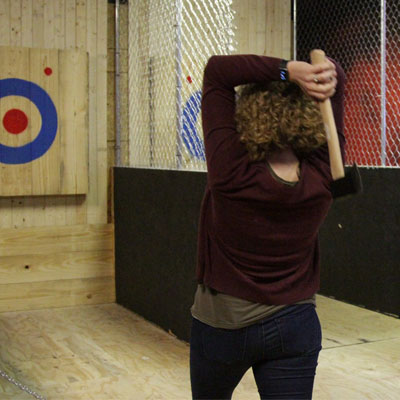 Cincinnati Axe Throwing Back