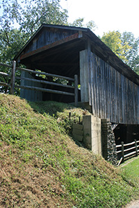 Covered bridge in Okeana, Ohio
