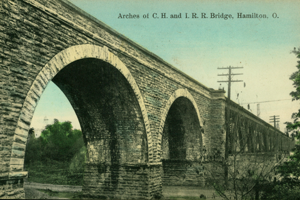 Hamilton Ohio Arches Color Postcard