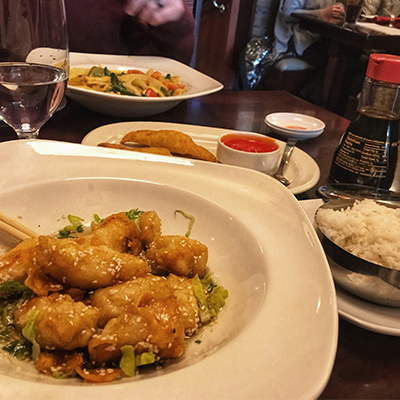 Sweet and Sour Chicken at Basil 1791