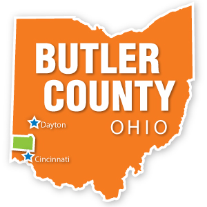 Butler County, Ohio Map