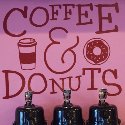 Coffee & Donuts sign
