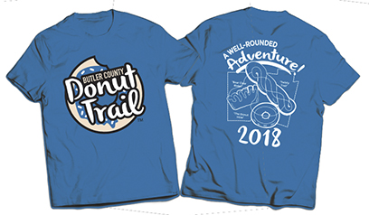 2018 Donut Trail Cycle Challenge T-shirt