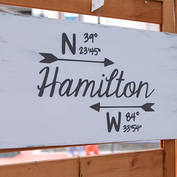 Sign at Hamilton Flea