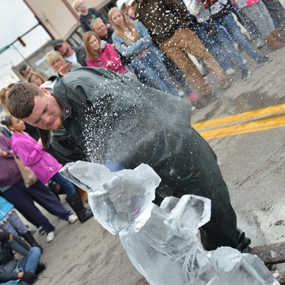 Ice Fest speed carving