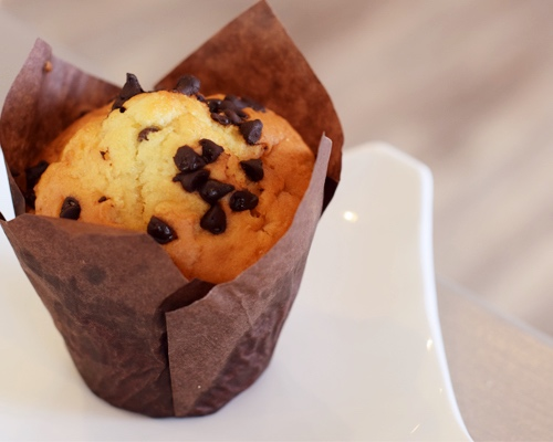 Coffee Cup Overflowing Muffin