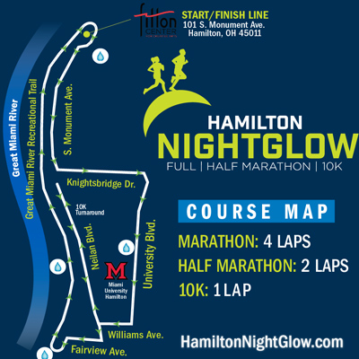 NightGlow course map