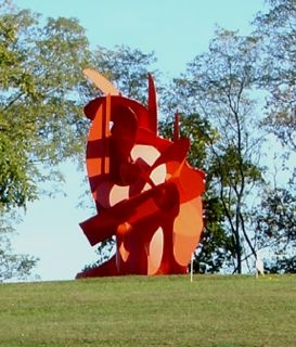 Sculpture at Hamilton's Pyramid Hill in Hamilton, OH