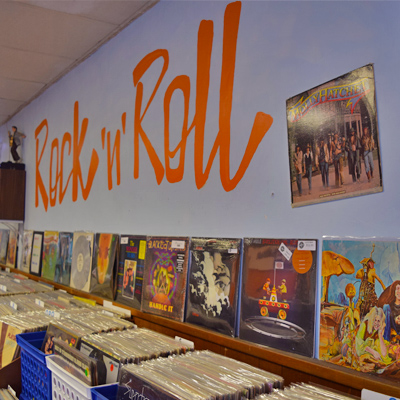 Main Street Vinyl Rock n Roll Wall