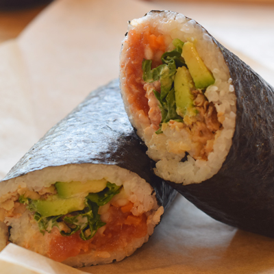 Sushi Burrito Roll On In